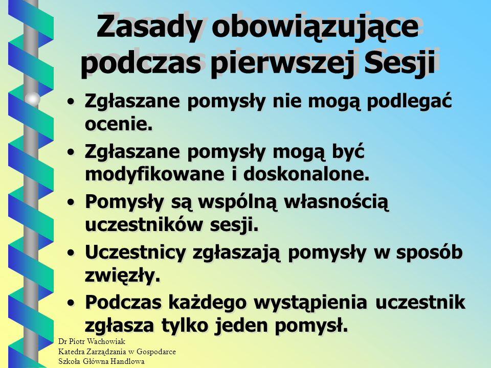 Dr Piotr Wachowiak Katedra Zarządzania w Gospodarce Szkoła Główna Handlowa Zespół dyskutantów Zespół dyskutantów powinien składać się z kilkunastu osób ( do 15 osób ).