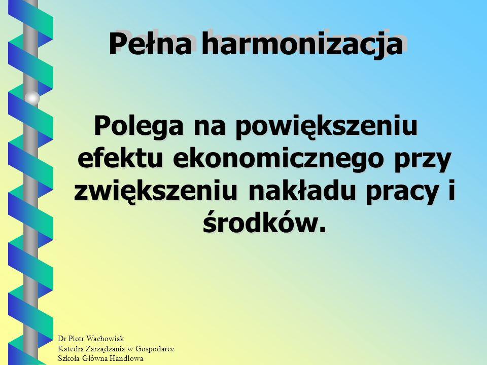 Dr Piotr Wachowiak Katedra Zarządzania w Gospodarce Szkoła Główna Handlowa Wydajnościowy Polega na powiększeniu efektu ekonomicznego przy zachowaniu takiego samego nakładu.