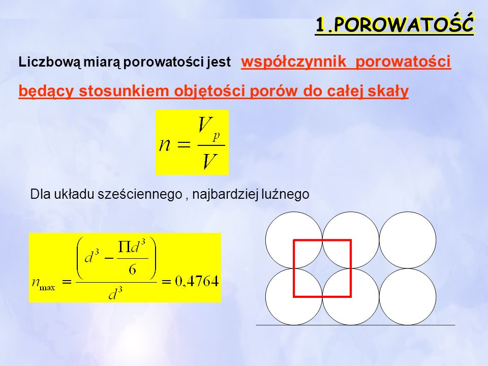 2.Skład granulometryczny Miarą różnoziarnistości jest tzw.