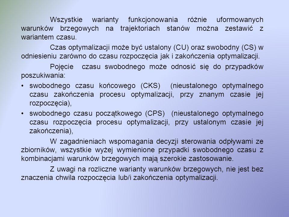Wariant LWZ – PWS Lewe Warunki na trajektoriach stanu Związane Prawe Warunki na trajektoriach stanu Swobodne 3b