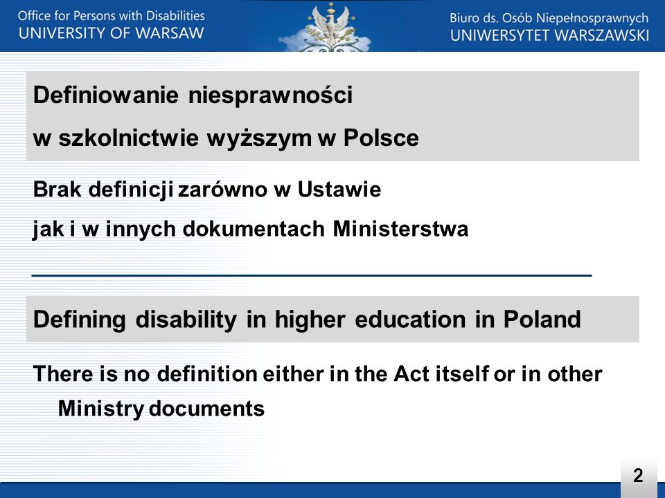 Brak definicji zarówno w Ustawie jak i w innych dokumentach Ministerstwa There is no definition either in the Act itself or in other Ministry document