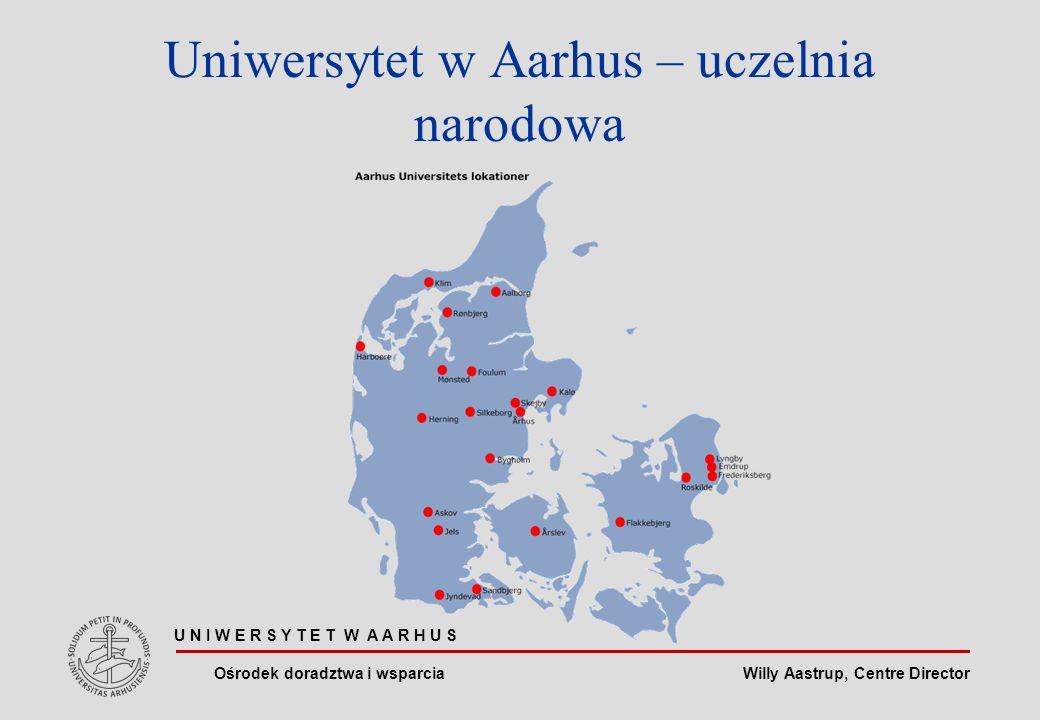 Willy Aastrup, Centre Director Uniwersytet w Aarhus – uczelnia narodowa U N I W E R S Y T E T W A A R H U S Ośrodek doradztwa i wsparcia