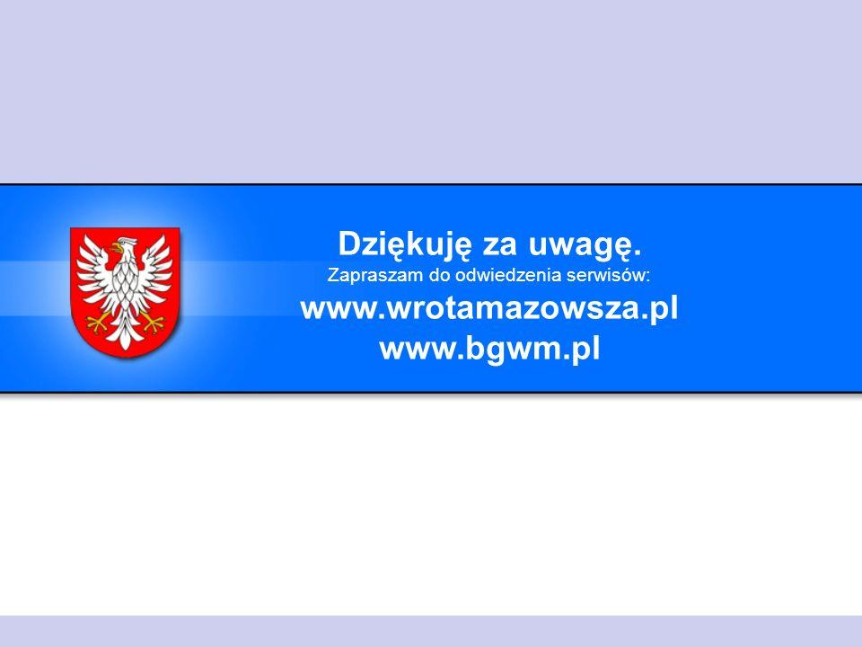 Dziękuję za uwagę. Zapraszam do odwiedzenia serwisów: www.wrotamazowsza.pl www.bgwm.pl