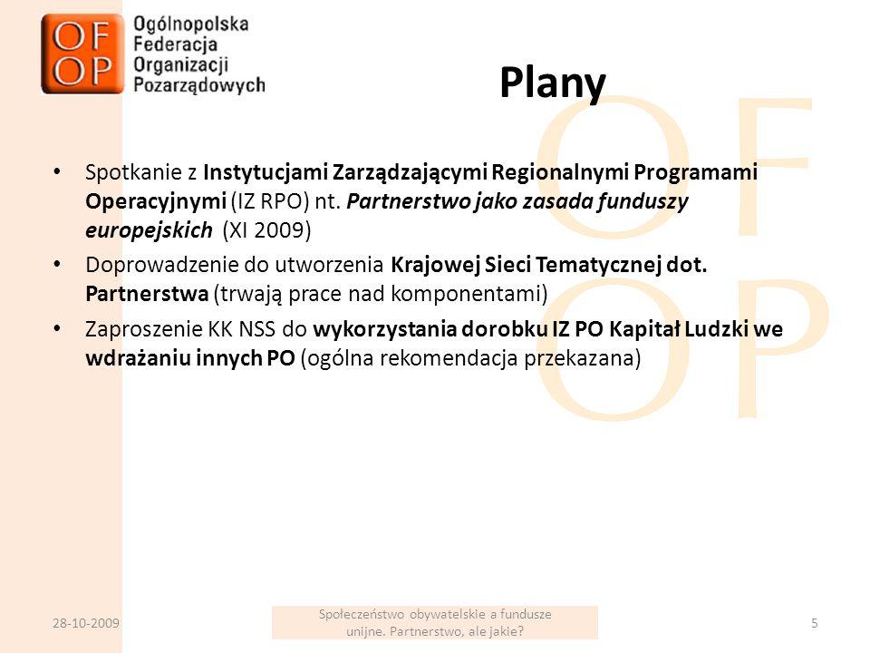 Plany Spotkanie z Instytucjami Zarządzającymi Regionalnymi Programami Operacyjnymi (IZ RPO) nt.