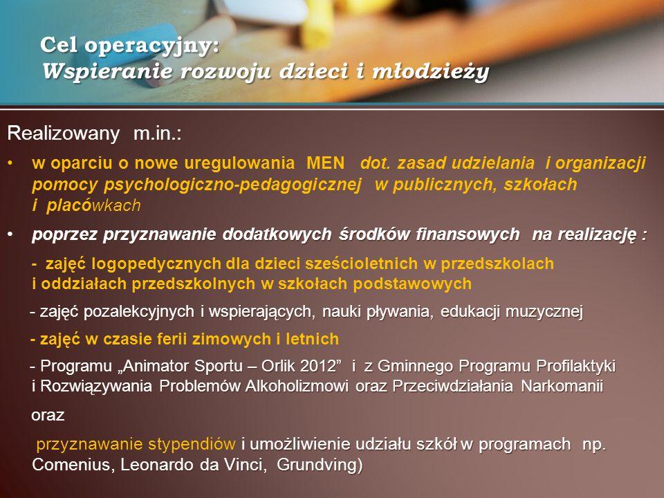 Realizowany m.in.: w oparciu o nowe uregulowania MEN dot.