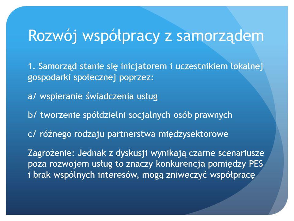 Rozwój współpracy z samorządem 1.