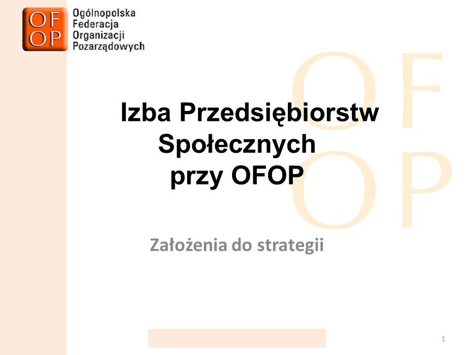 Izba Przedsiębiorstw Społecznych przy OFOP Założenia do strategii 1