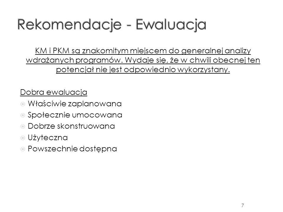KM i PKM są znakomitym miejscem do generalnej analizy wdrażanych programów.