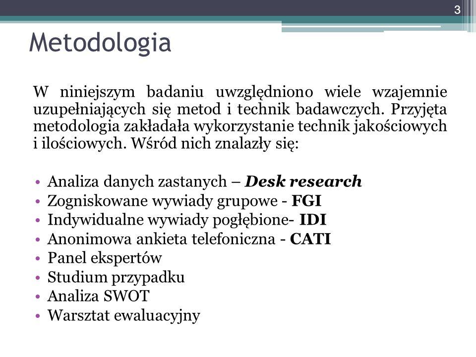 Metodologia W niniejszym badaniu uwzględniono wiele wzajemnie uzupełniających się metod i technik badawczych. Przyjęta metodologia zakładała wykorzyst