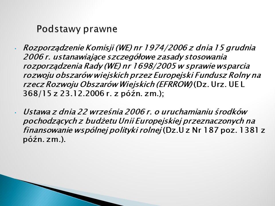 Rozporządzenie Komisji (WE) nr 1974/2006 z dnia 15 grudnia 2006 r. ustanawiające szczegółowe zasady stosowania rozporządzenia Rady (WE) nr 1698/2005 w