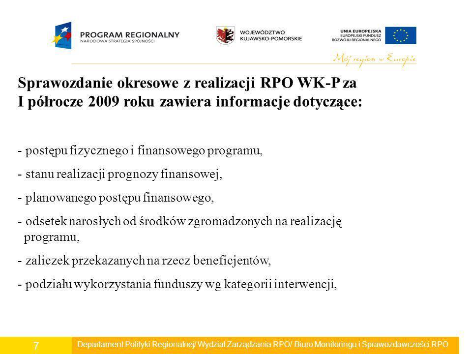 W 2009 roku kontynuowane były prace nad dokumentacją, warunkującą sprawne i efektywne wdrażanie RPO w województwie kujawsko-pomorskim.