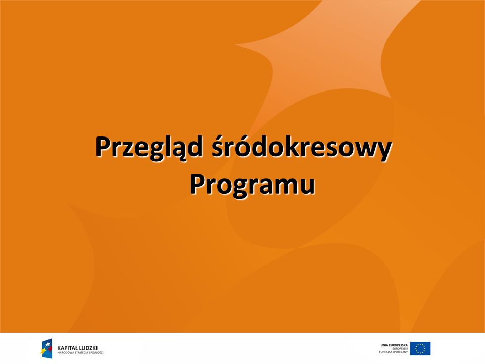Przegląd śródokresowy Programu