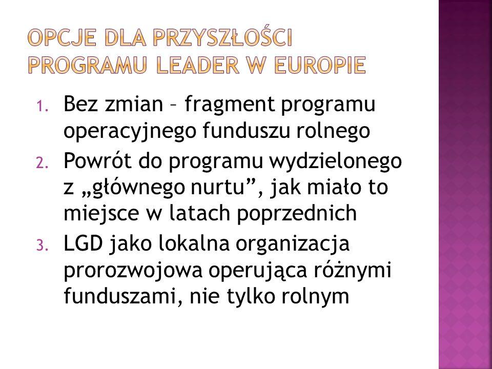 1.Bez zmian – fragment programu operacyjnego funduszu rolnego 2.