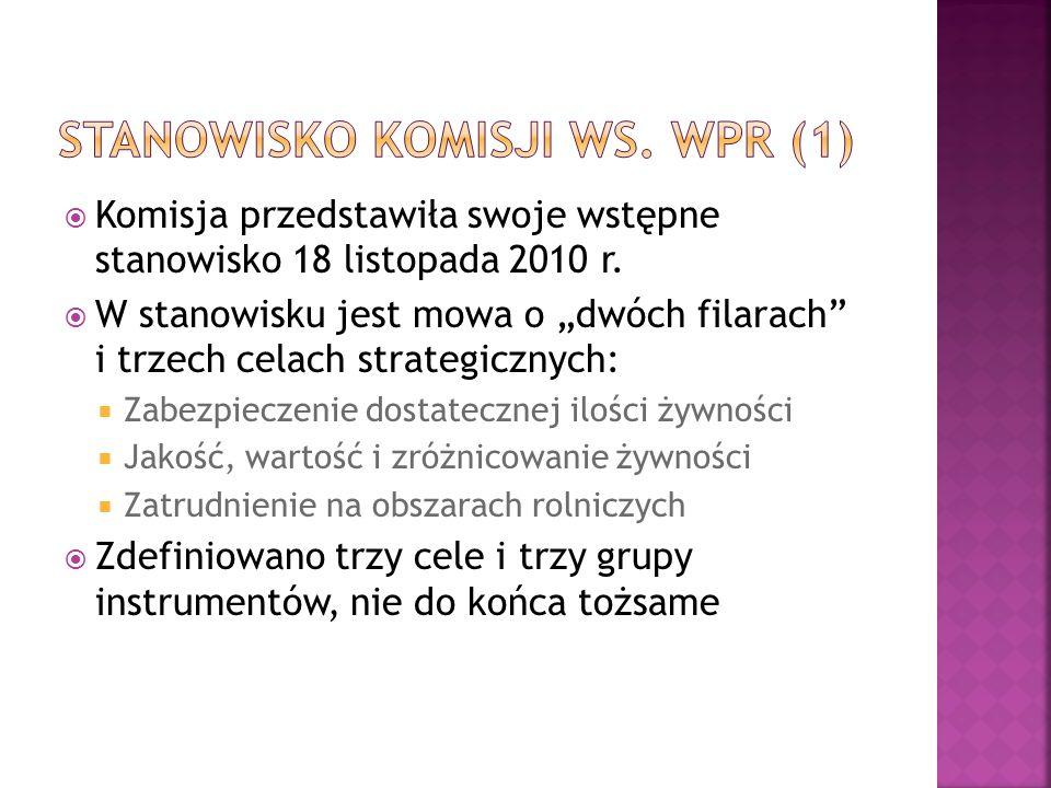 Komisja przedstawiła swoje wstępne stanowisko 18 listopada 2010 r.