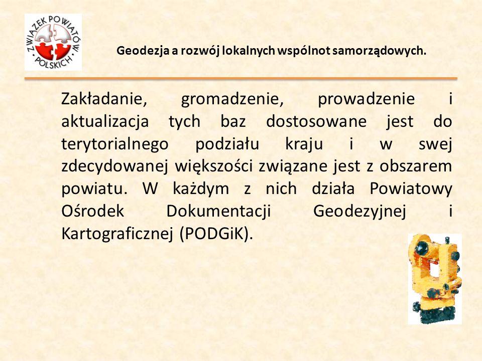 Geodezja a rozwój lokalnych wspólnot samorządowych.