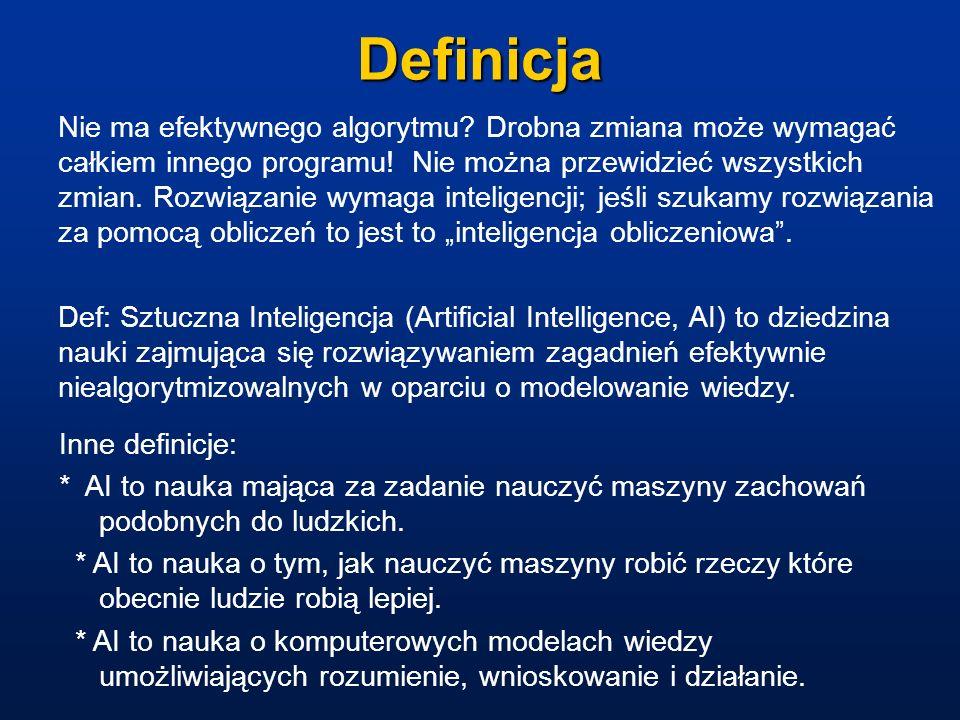 Kluczowe zagadnienia II Język naturalny: rozumienie języka, tłumaczenie maszynowe, rozumienie mowy mówionej.