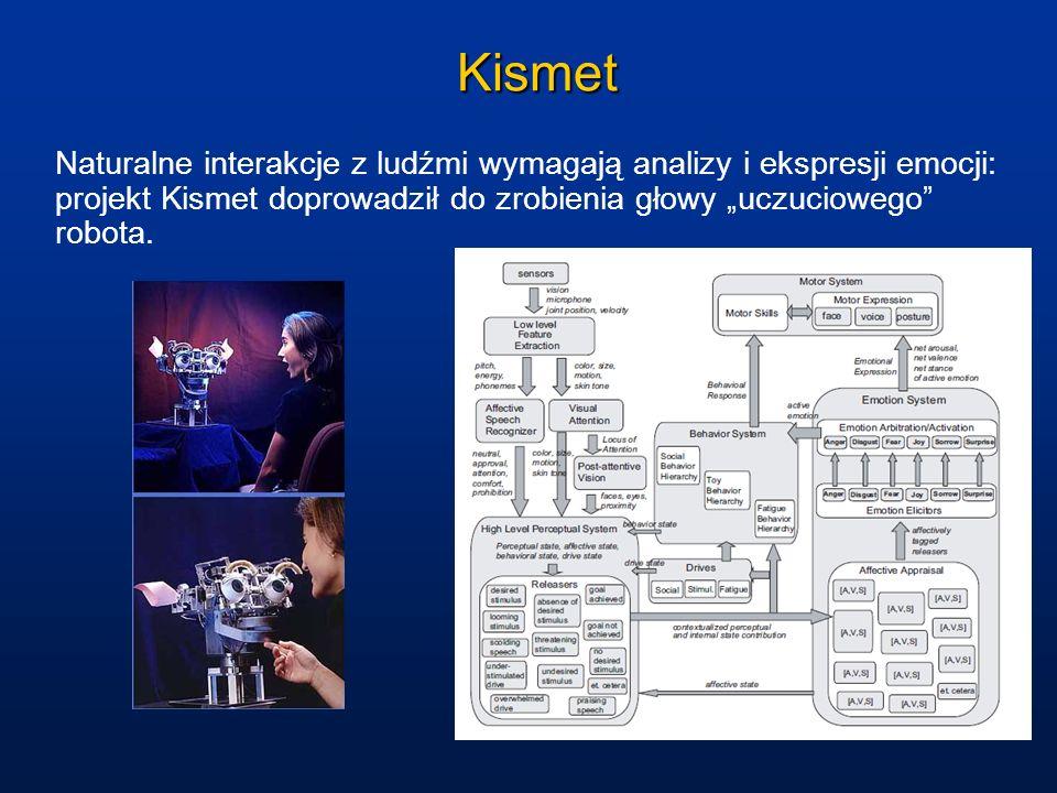 Kismet Naturalne interakcje z ludźmi wymagają analizy i ekspresji emocji: projekt Kismet doprowadził do zrobienia głowy uczuciowego robota.