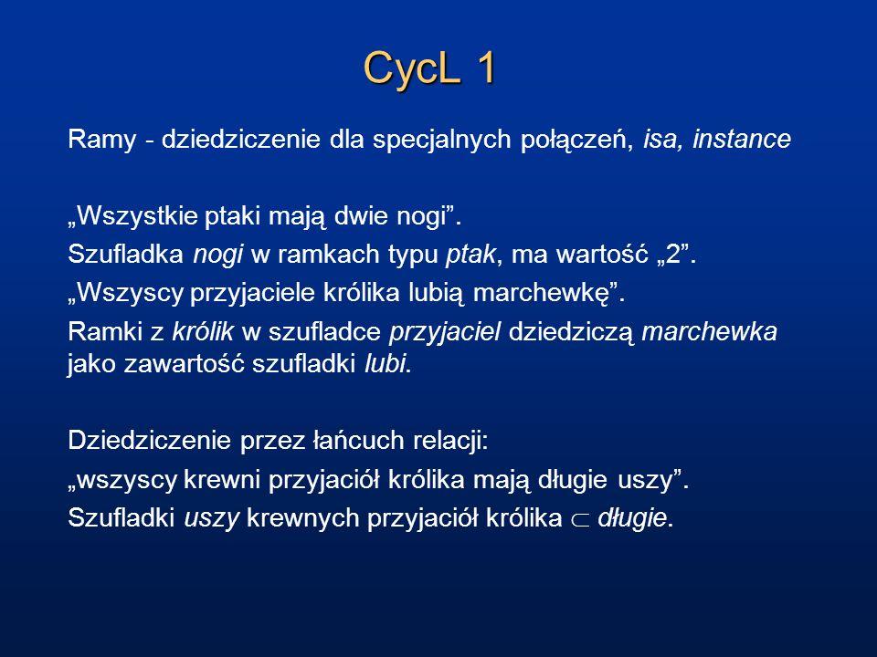 CycL 2 Constraint language - opis przez specyfikację ograniczeń.
