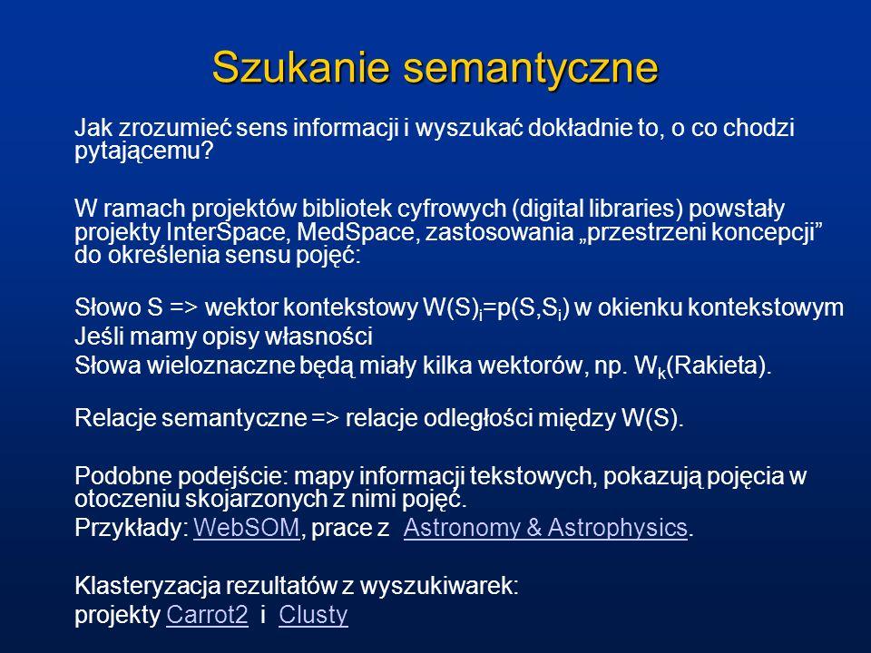 Szukanie semantyczne Jak zrozumieć sens informacji i wyszukać dokładnie to, o co chodzi pytającemu.