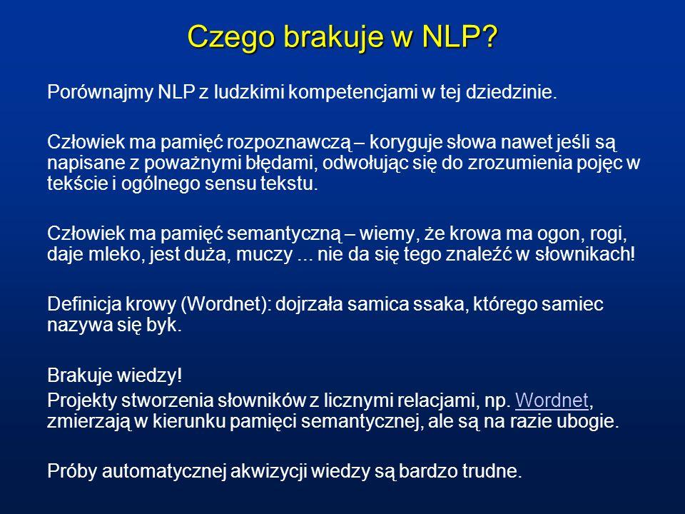 Czego brakuje w NLP. Porównajmy NLP z ludzkimi kompetencjami w tej dziedzinie.