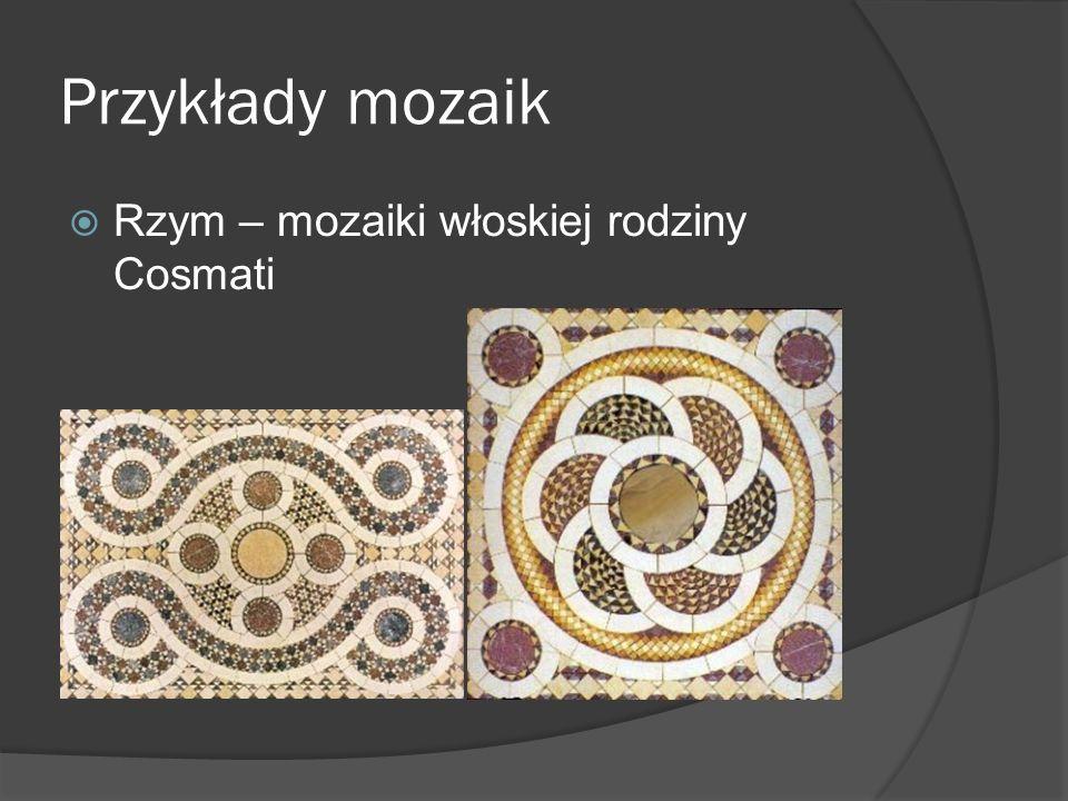 Przykłady mozaik Rzym – mozaiki włoskiej rodziny Cosmati