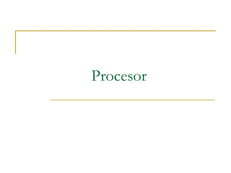 Definicja: (ang.processor) nazywany często CPU (ang.
