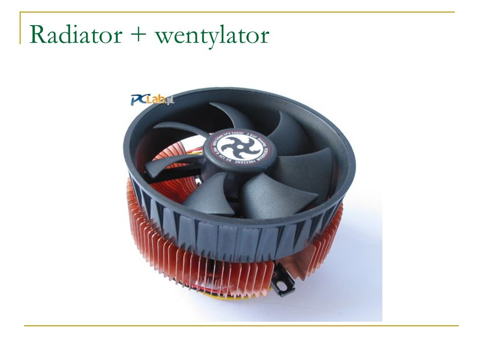 Radiator + wentylator