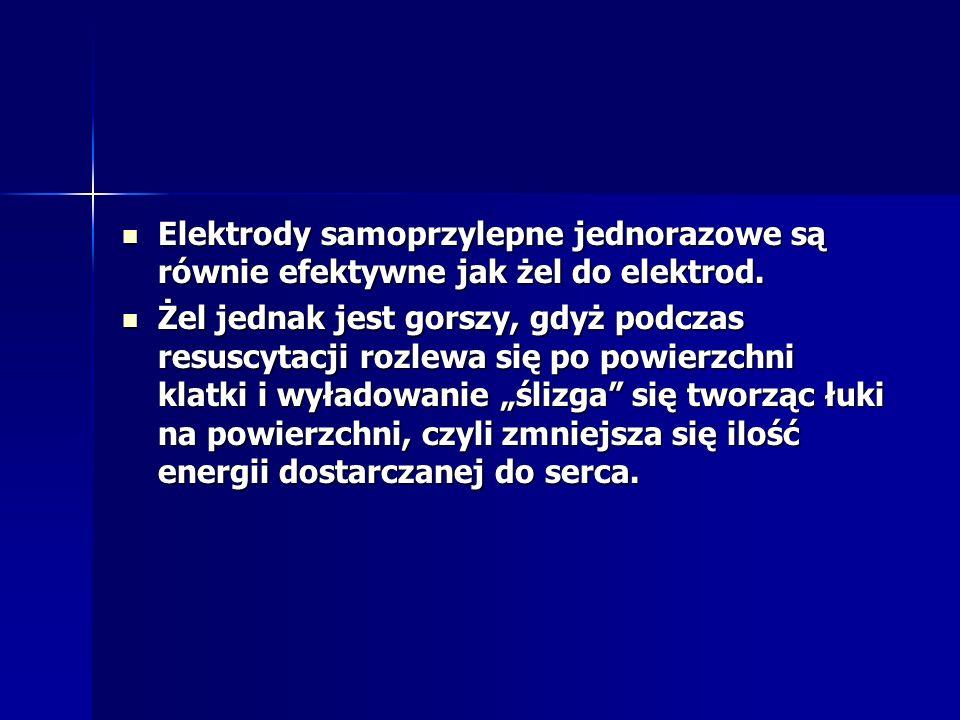 Elektrody samoprzylepne jednorazowe są równie efektywne jak żel do elektrod. Elektrody samoprzylepne jednorazowe są równie efektywne jak żel do elektr