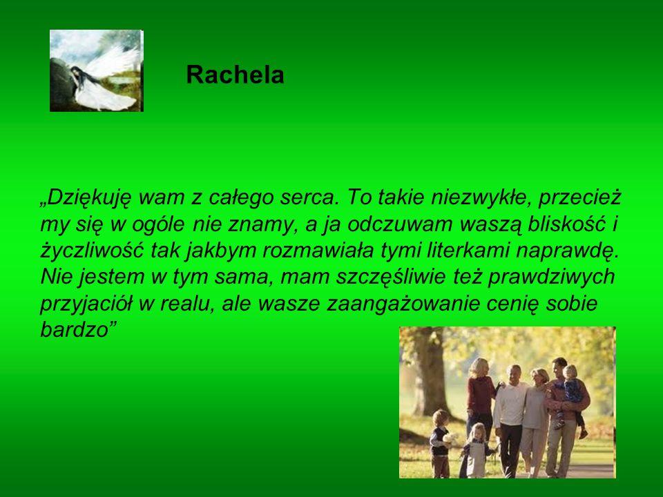 Rachela Dziękuję wam z całego serca.