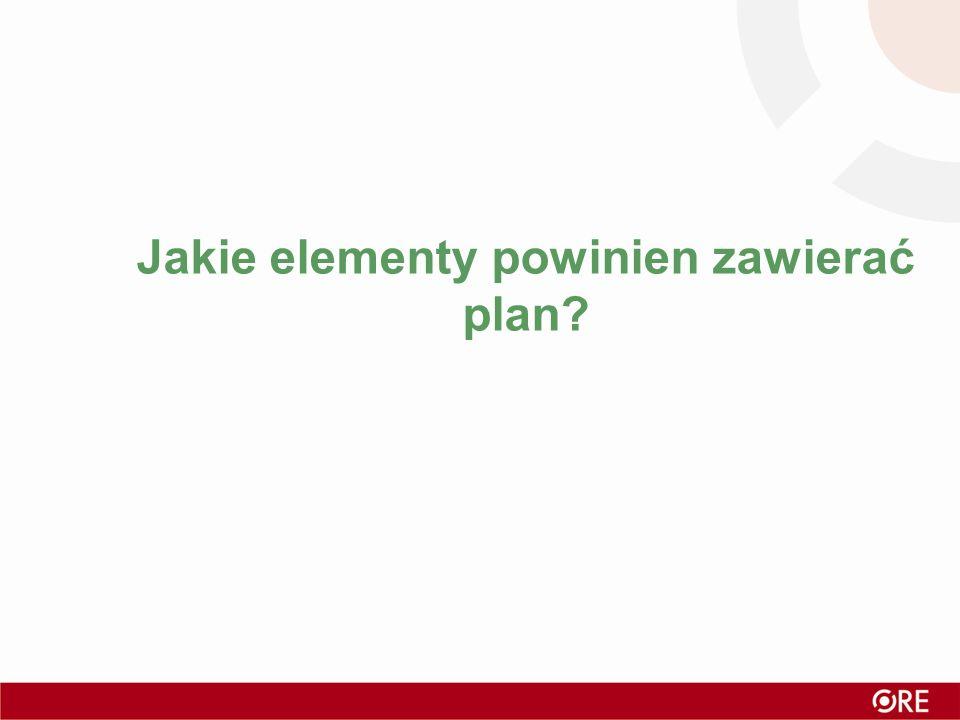Jakie elementy powinien zawierać plan?