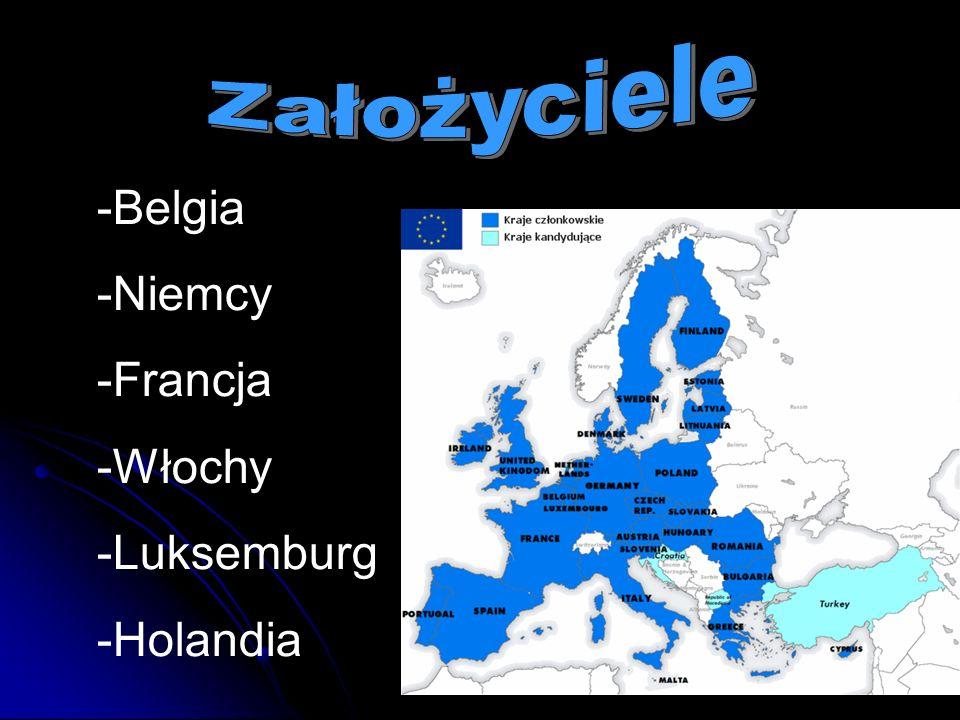 -Belgia -Niemcy -Francja -Włochy -Luksemburg -Holandia