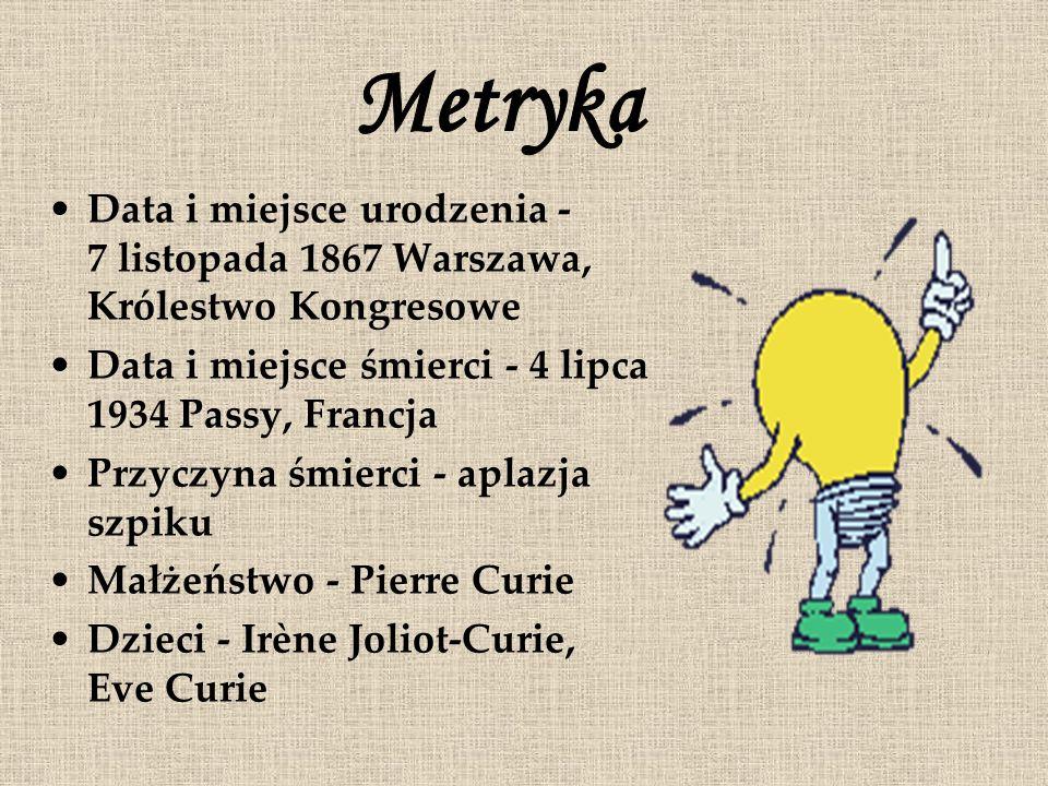 Data i miejsce urodzenia - 7 listopada 1867 Warszawa, Królestwo Kongresowe Data i miejsce śmierci - 4 lipca 1934 Passy, Francja Przyczyna śmierci - ap