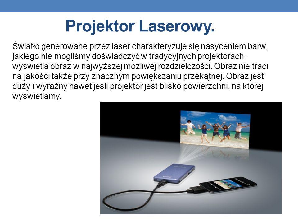 Projektor Laserowy. Światło generowane przez laser charakteryzuje się nasyceniem barw, jakiego nie mogliśmy doświadczyć w tradycyjnych projektorach -