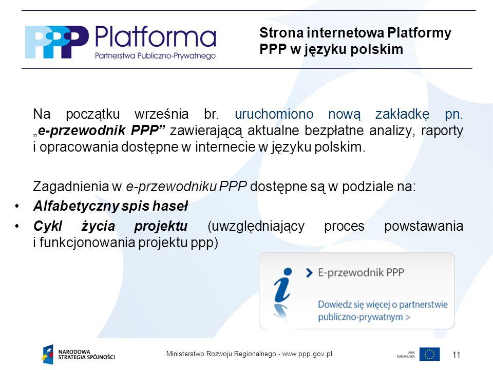 www.ppp.gov.plMinisterstwo Rozwoju Regionalnego - 11 Na początku września br.