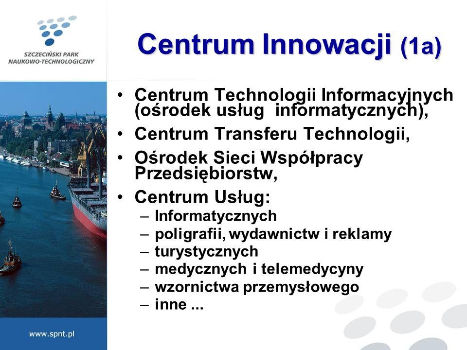 Centrum Innowacji (1a) Centrum Technologii Informacyjnych (ośrodek usług informatycznych), Centrum Transferu Technologii, Ośrodek Sieci Współpracy Prz