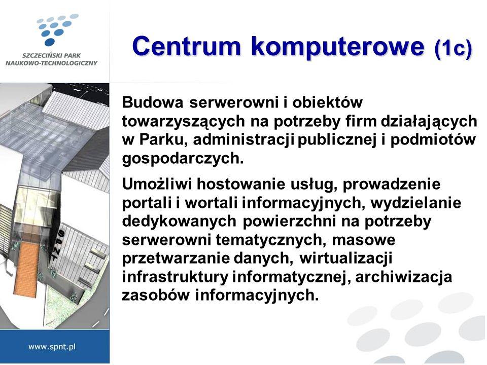 Centrum komputerowe (1c) Budowa serwerowni i obiektów towarzyszących na potrzeby firm działających w Parku, administracji publicznej i podmiotów gospo