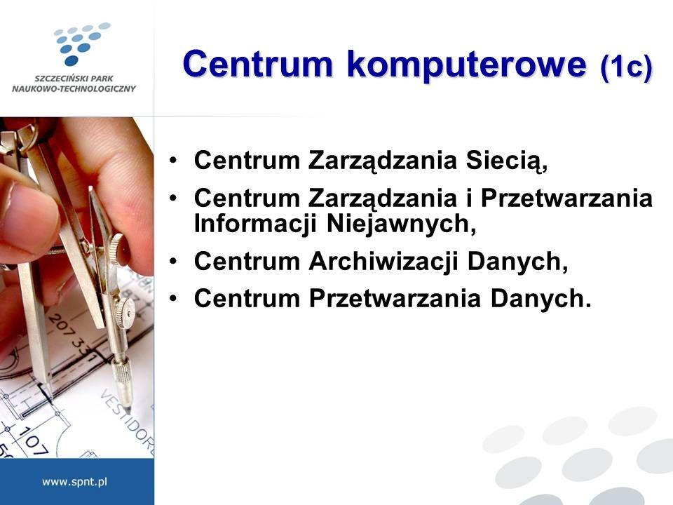 Centrum komputerowe (1c) Centrum Zarządzania Siecią, Centrum Zarządzania i Przetwarzania Informacji Niejawnych, Centrum Archiwizacji Danych, Centrum P
