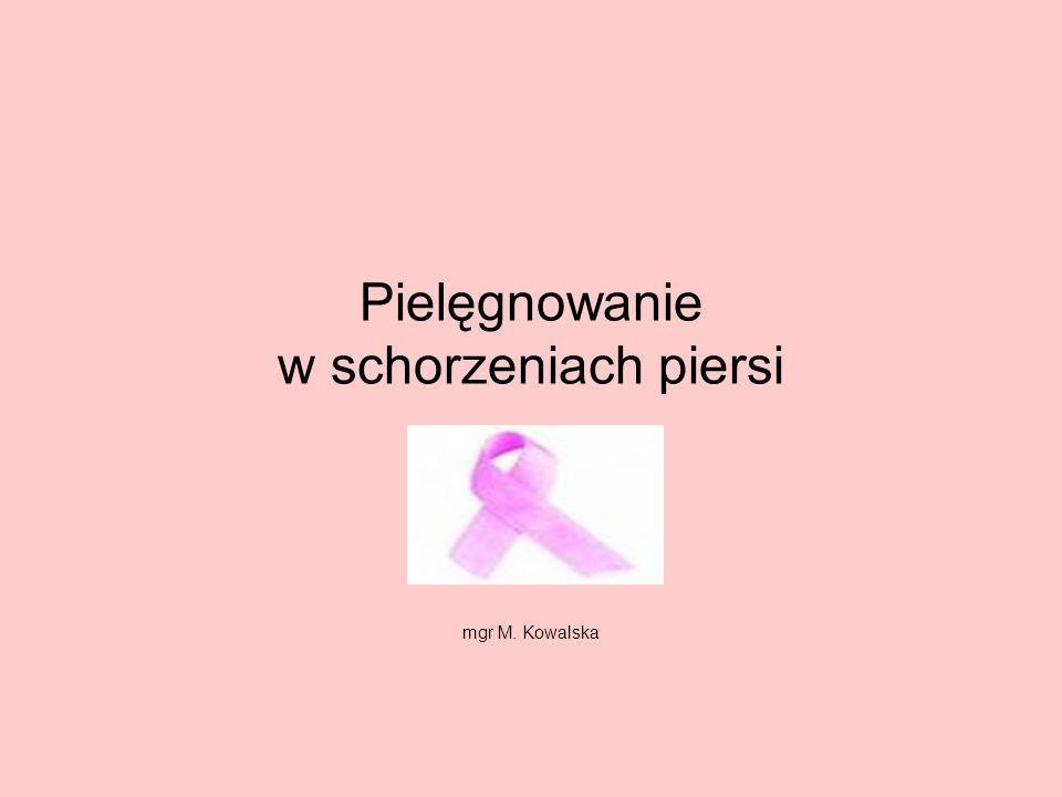 Pielęgnowanie w schorzeniach piersi mgr M. Kowalska