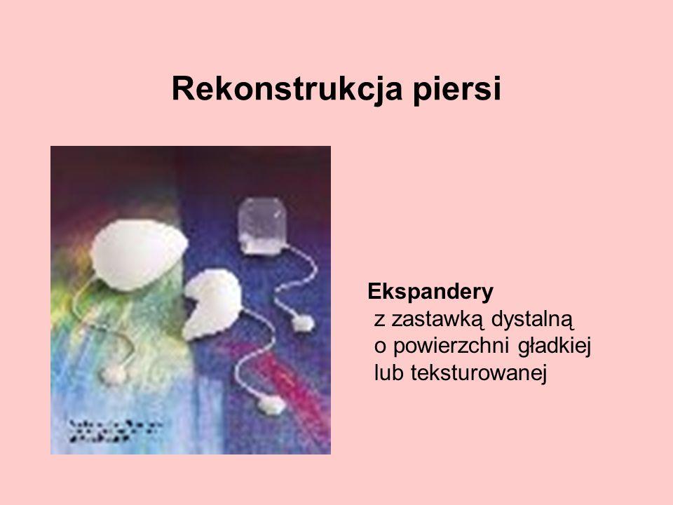 Rekonstrukcja piersi Ekspandery z zastawką dystalną o powierzchni gładkiej lub teksturowanej