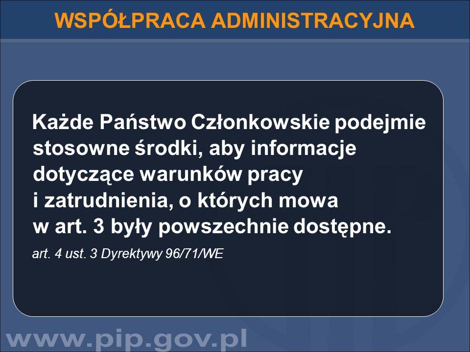 5555555555555555555555555555 PIP JAKO INSTYTUCJA ŁĄCZNIKOWA ZADANIA: Wymiana informacji na temat delegowania z biurami łącznikowymi w innych państwach członkowskich; Przekazywanie do zagranicznych biur łącznikowych informacji o nieprawidłowościach, sygnalizowanych w skargach polskich pracowników, w tym delegowanych;