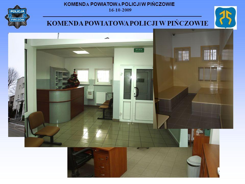KOMEND A POWIATOW A POLICJI W PIŃCZOWIE 16-10-2009 KOMENDA POWIATOWA POLICJI W PIŃCZOWIE