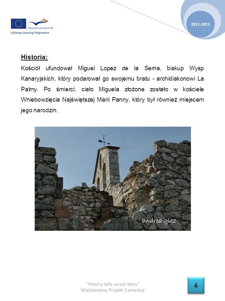History tells us our story Wielostronny Projekt Comenius 2011-2013 7 7 Architektura: Kościół Wniebowzięcia Najświętszej Marii Panny zbudowany został w słynnym stylu bazyliki, czyli chrześcijańskiej świątyni wielonawowej, która charakteryzuje się łukowym sklepieniem, sanktuarium, zakrystią oraz wieżą.