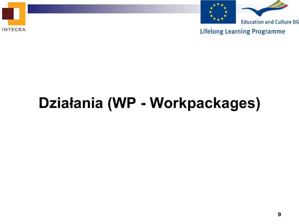 9 Działania (WP - Workpackages)