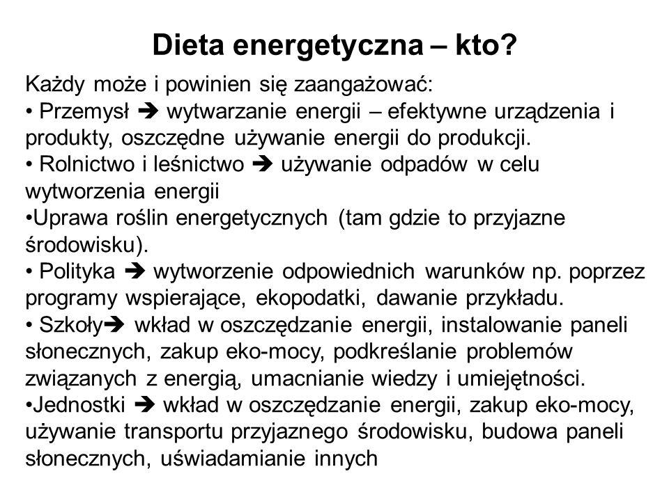 Dieta energetyczna – kiedy.Teraz, dziś. Tam, gdzie warto.