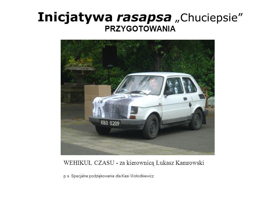 Inicjatywa rasapsa Chuciepsie PRZYGOTOWANIA WEHIKUŁ CZASU - za kierownicą Łukasz Kamrowski p.s. Specjalne podziękowania dla Kasi Wołodkiewicz