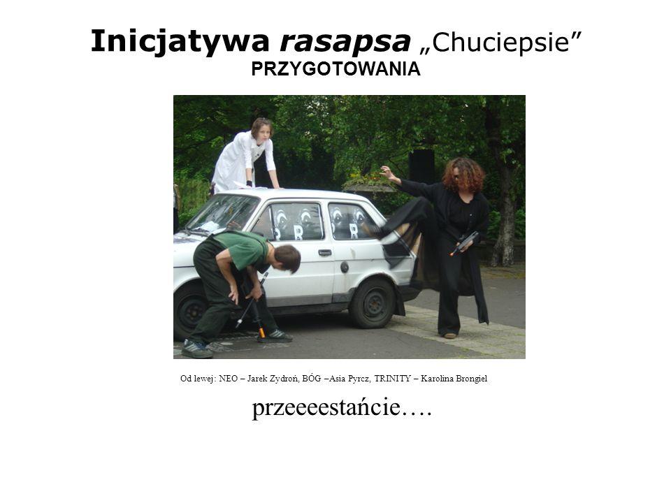 Inicjatywa rasapsa Chuciepsie PRZYGOTOWANIA Od lewej: TRINITY – Karolina Brongiel, NEO – Jarek Zydroń No i co Neo, hm.