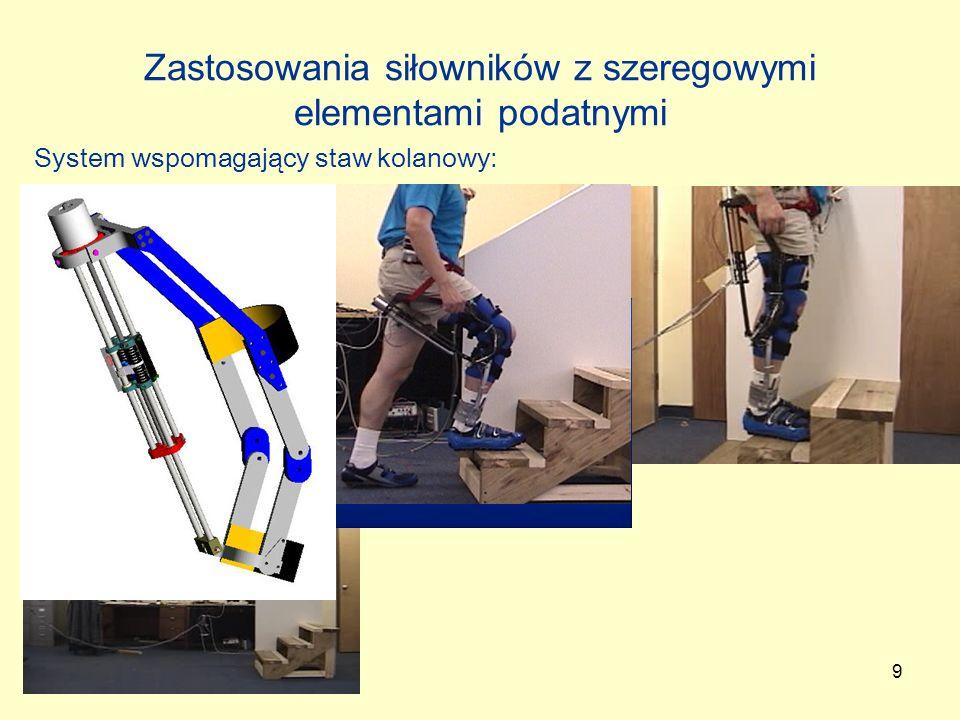 20 Podsumowanie Impedancja wyjściowa robota Sterowanie impedancyjne = aktywne sterowanie podatne