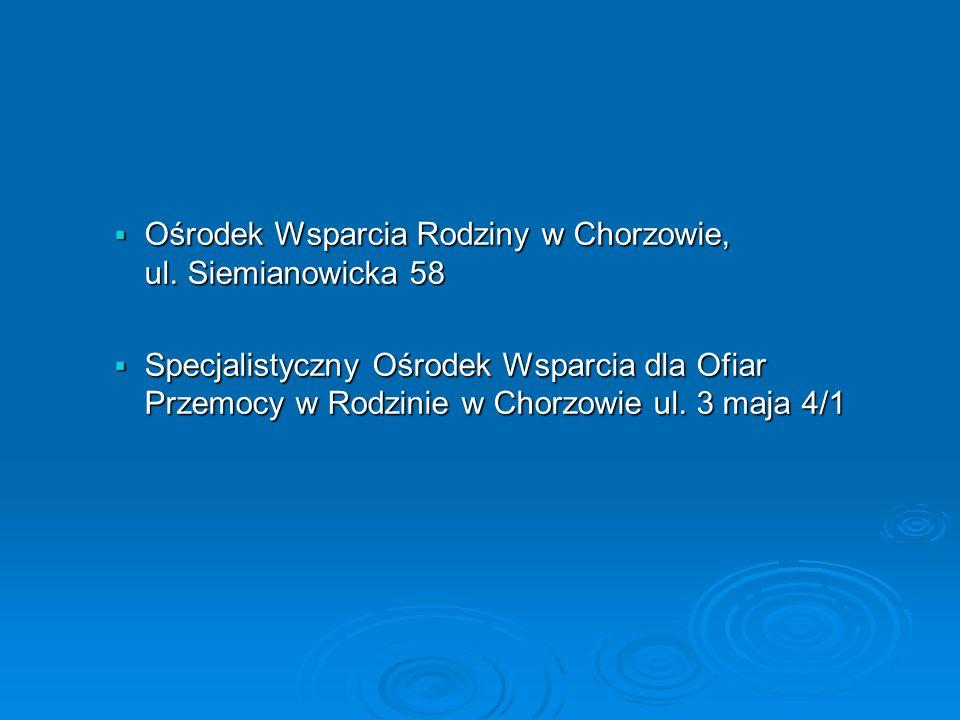 Ośrodek Wsparcia Rodziny w Chorzowie, ul.