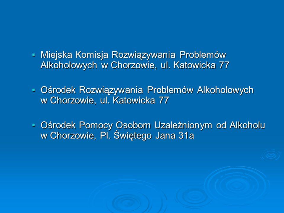 Miejska Komisja Rozwiązywania Problemów Alkoholowych w Chorzowie, ul.