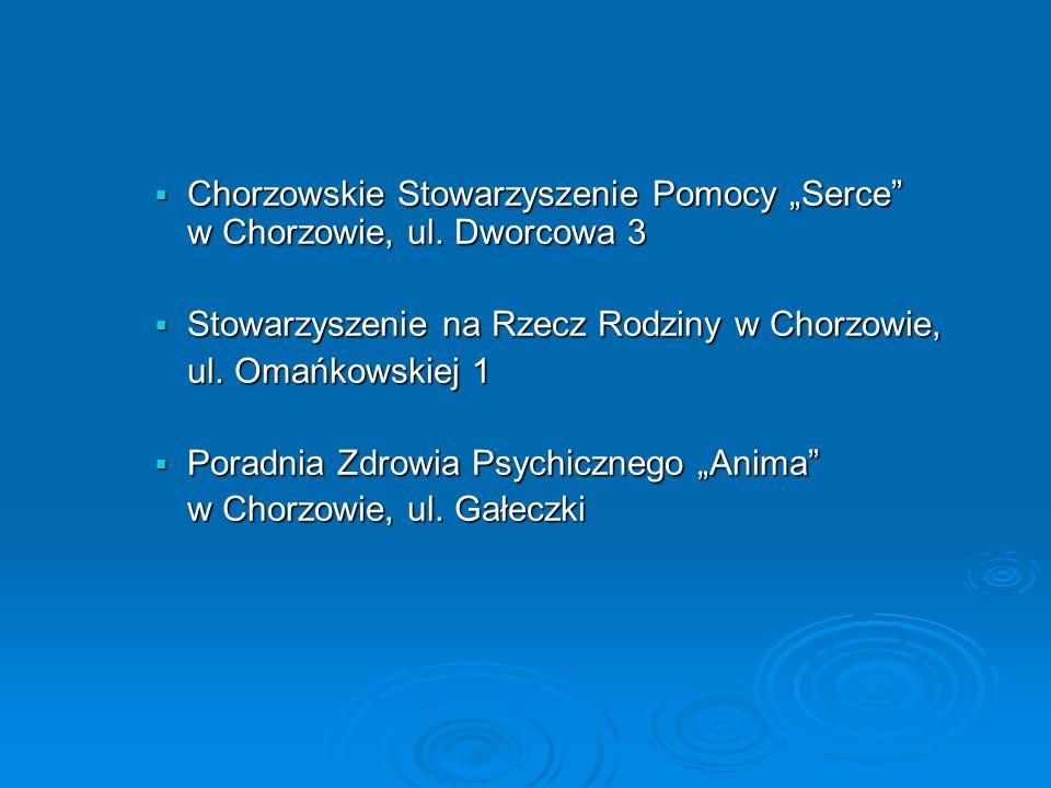 Chorzowskie Stowarzyszenie Pomocy Serce w Chorzowie, ul.